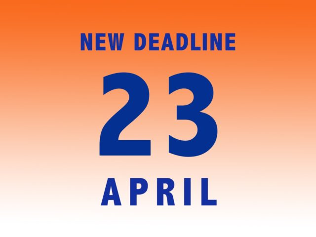 New Deadline!